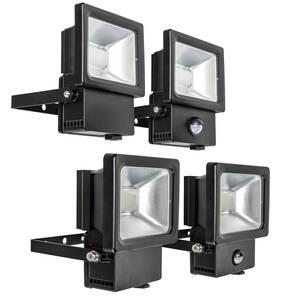 LED Flutlichtstrahler mit und ohne Bewegungsmelder Heitronic