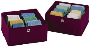 Schubladenorganizer, 2er Set, Farbe brombeere