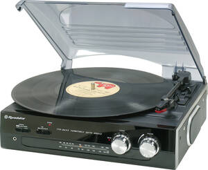 Plattenspieler TTR-8633 N mit FM Stereo Radio Roadstar