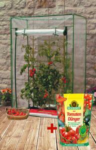 Tomatengewächshaus KOMPAKT, 100x50x150 cm + GRATIS dazu Tomatendünger 750 g