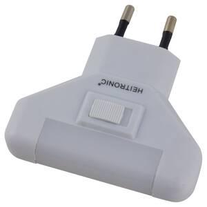 LED Nachtlicht mit Schalter und 5 LEDs, 1 Watt Heitronic