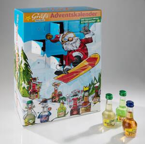 Gräfs Adventskalender, gefüllt mit 24 Mini-Spirituosen