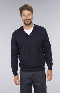 Pullover mit Schurwolle, Farbe marine