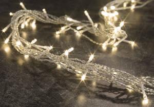 LED Lichtervorhang mit 80 warmweißen LEDs für den Innenbreich
