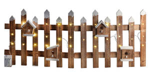 Weihnachtlicher Deko Zaun mit LED Beleuchtung