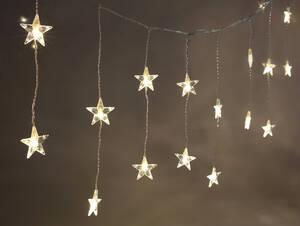 LED Lichtervorhang mit Sternen, 20-teilig