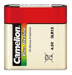 Alkaline Plus 4,5V Flachbatterie 3LR12, 1 Stück Camelion