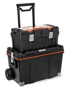 Kombi Werkzeugkoffer auf Rollen mit extra Werkzeugbox und Kleinteile-Magazin   Baumarkt > Werkzeug > Werkzeug-Sets