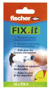 Fix.it Reparaturvlies, repariert ausgerissene Bohrlöcher, 10 Stück Fischer