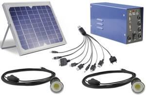 Solar LED Beleuchtungs - Set 10 W m. Panel, Reg...