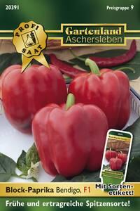 Block-Paprika Bendigo Gemüse Samen - Treibhaus geeignet Gartenland Aschersleben