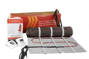 Elektro Flächenheizung 1 qm, unter Fliesen inkl. digitales Thermostat | Baumarkt > Heizung und Klima > Fussbodenheizungen