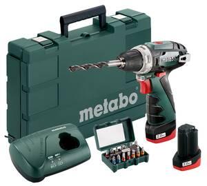 Akku Bohrschrauber 10,8 V PowerMaxx BS Basic Set inklusive Bit-Set 15-teilig Metabo | Baumarkt > Werkzeug > Werkzeug-Sets | Metabo