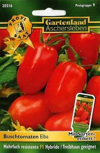 Buschtomaten Elba - Gemüse Samen - Treibhaus geeignet Gartenland Aschersleben