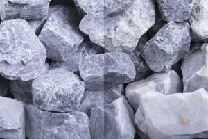 Kalkstein Steinschlag Kristall Blau 30-60 Körnung, verschiedene Gebindegrößen Gartenmeister