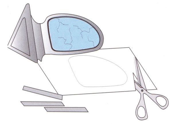 Ersatzspiegelglas notfallspiegel bei westfalia versand for Spiegel reparieren