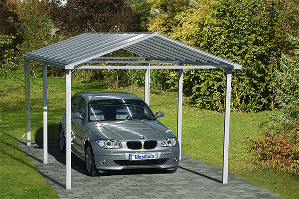 aluminium carports modell classic in verschiedenen farben bei westfalia versand deutschland. Black Bedroom Furniture Sets. Home Design Ideas