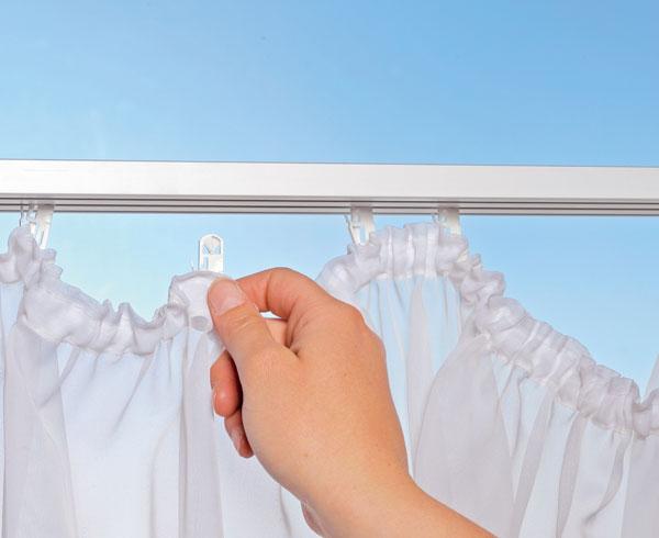 gardinen klicks 200 tlg w schenetz zum schutz der klicks bei westfalia versand deutschland. Black Bedroom Furniture Sets. Home Design Ideas