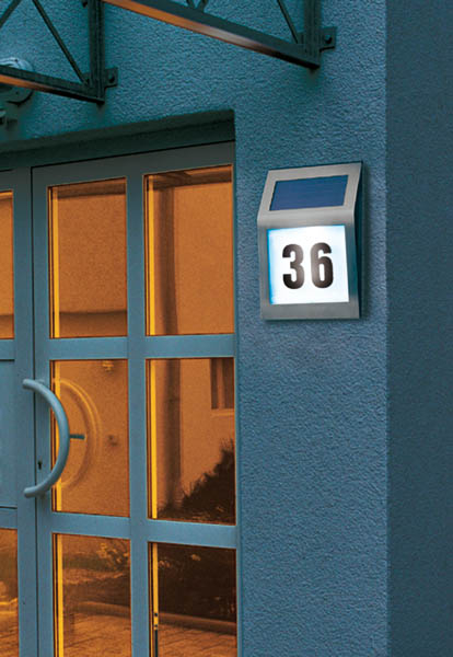 solar powered illuminated house numbers at westfalia mail order uk. Black Bedroom Furniture Sets. Home Design Ideas