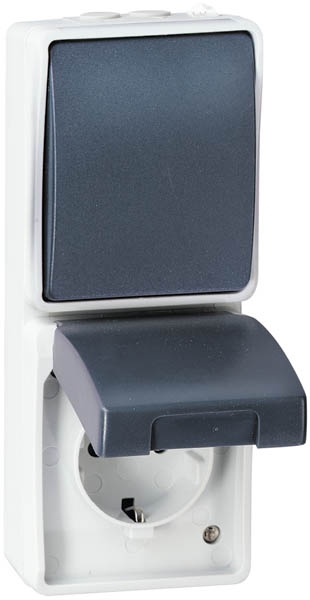 steckdosen schalter f r feuchtr ume verschiedene ausf hrungen bei westfalia versand sterreich. Black Bedroom Furniture Sets. Home Design Ideas