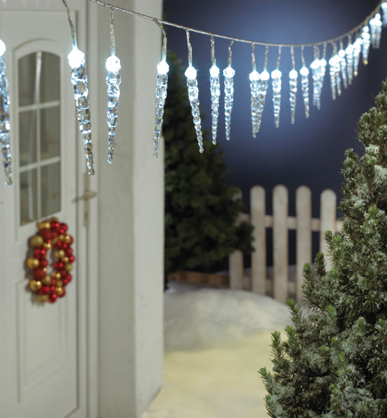 led lichterkette zapfen mit 40 eiszapfen bei westfalia. Black Bedroom Furniture Sets. Home Design Ideas