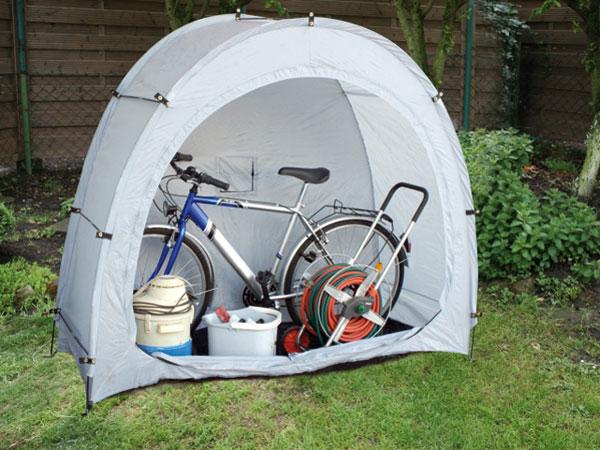 mobile fahrradgarage mit aufbewahrungstasche ebay. Black Bedroom Furniture Sets. Home Design Ideas