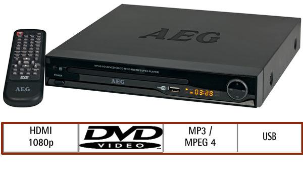 aeg dvd 4550 hdmi dvd player mit hdmi und usb anschluss. Black Bedroom Furniture Sets. Home Design Ideas