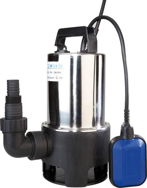 Robuste Edelstahl Schmutzwasser Tauchpumpe, 750 Watt 12500