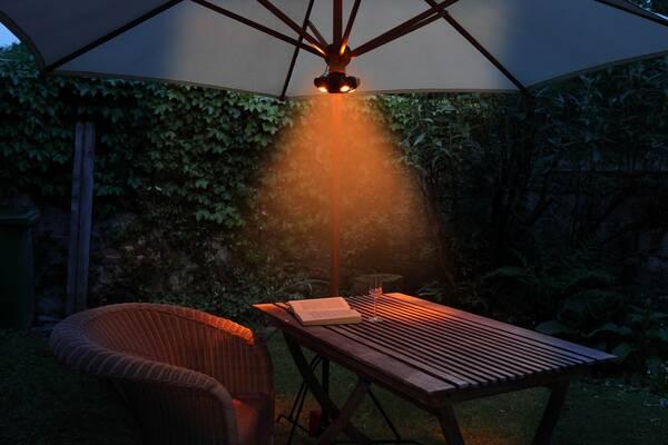 wetelux led sonnenschirm lampe mit 40 leds 2 lichtfarben ebay. Black Bedroom Furniture Sets. Home Design Ideas