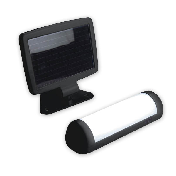 solar led wandlampe mit solar panel ebay. Black Bedroom Furniture Sets. Home Design Ideas