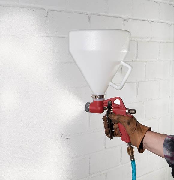 spritzpistole wandfarbe kompressor druckluft trichter. Black Bedroom Furniture Sets. Home Design Ideas