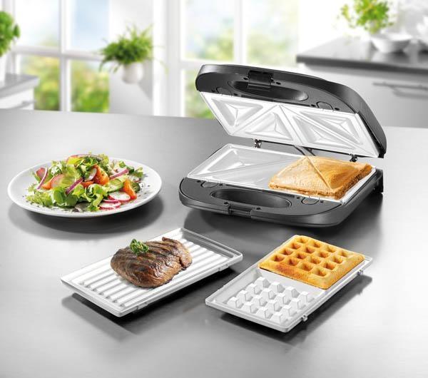 tischgrill sandwichmaker und waffeleisen in einem ger t ebay. Black Bedroom Furniture Sets. Home Design Ideas