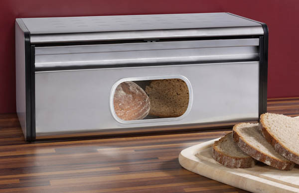 brotbox mit sichtklappe edelstahl ebay. Black Bedroom Furniture Sets. Home Design Ideas