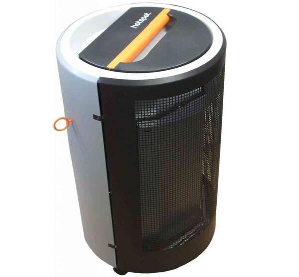 gas heizofen hotspot blue flame fahrbar grau. Black Bedroom Furniture Sets. Home Design Ideas