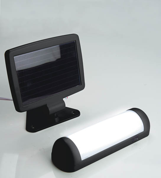 solar led wandlampe mit solar panel bei westfalia versand sterreich. Black Bedroom Furniture Sets. Home Design Ideas