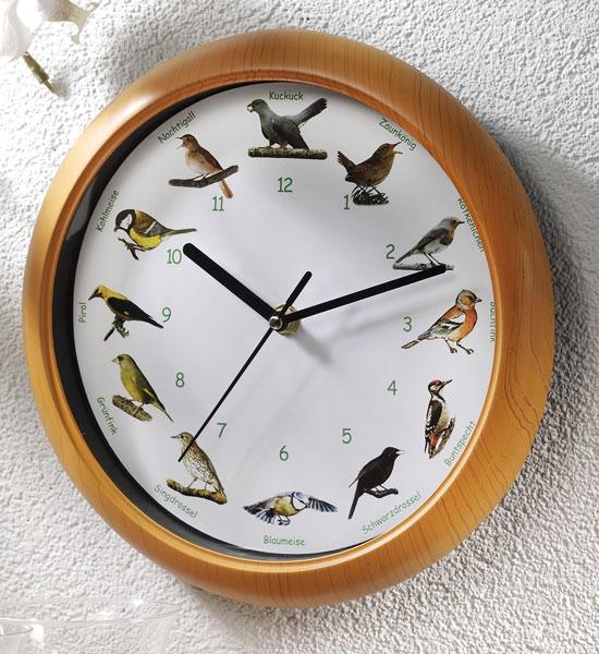 Vogelstimmen wanduhr 25 cm durchmesser mit 12 vogelstimmen - Wanduhr 100 cm durchmesser ...