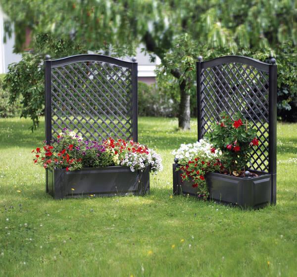 pflanzk bel mit rankgitter breite 100 cm verschiedene. Black Bedroom Furniture Sets. Home Design Ideas