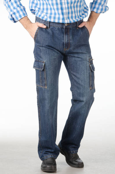 herren cargo jeans jeansblau bei westfalia versand. Black Bedroom Furniture Sets. Home Design Ideas