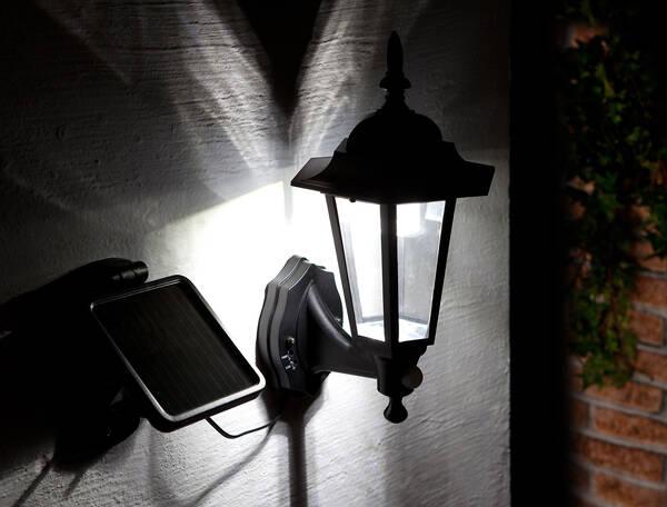 ranex solar led wandleuchte london mit bewegungsmelder ip44 200 lm. Black Bedroom Furniture Sets. Home Design Ideas