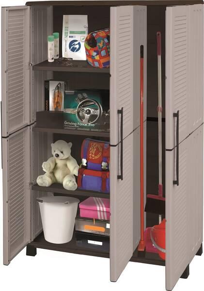 wetterfester schrank zur individuellen aufbewahrung aus kunststoff ebay. Black Bedroom Furniture Sets. Home Design Ideas