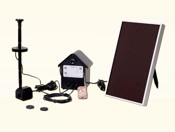 solartrend solarpumpen set m akku led licht fernbedienung springbrunnen ebay. Black Bedroom Furniture Sets. Home Design Ideas