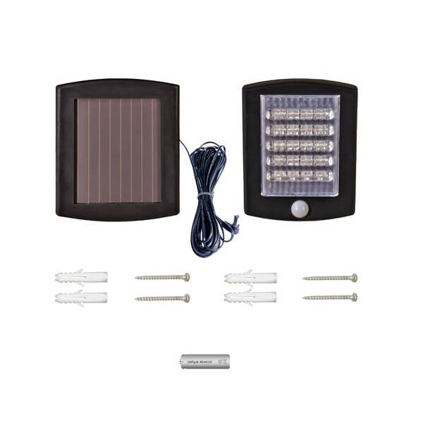 solar led strahler mit bewegungsmelder 36 leds akku und zuleitung bei westfalia versand. Black Bedroom Furniture Sets. Home Design Ideas