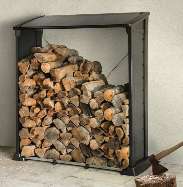 feuerholz regal brennholzlager kaminholzregal ebay. Black Bedroom Furniture Sets. Home Design Ideas