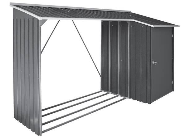 regal f r ihr kaminholz brennholz mit praktischen schrank. Black Bedroom Furniture Sets. Home Design Ideas