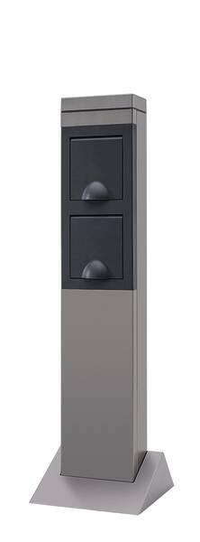 garten steckdosens ule 2fach aus alu ebay. Black Bedroom Furniture Sets. Home Design Ideas