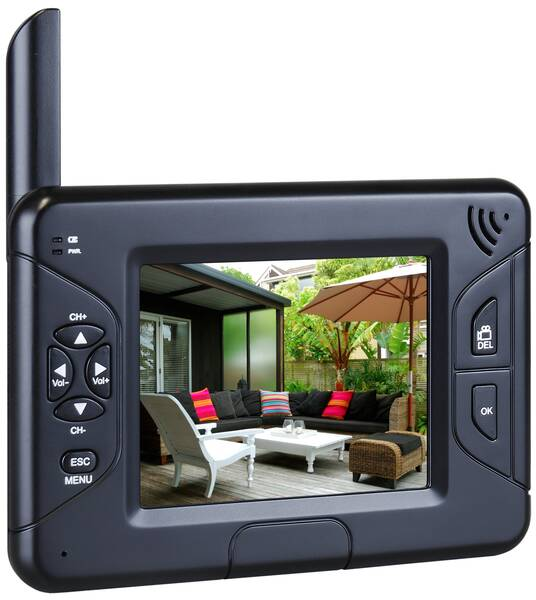 smartwares echtzeit digital kamerasystem cs83dvr mit monitor au enkamera ebay. Black Bedroom Furniture Sets. Home Design Ideas