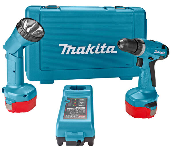 makita akkuschrauber set 6281dwple 14 4 volt inkl lampe. Black Bedroom Furniture Sets. Home Design Ideas