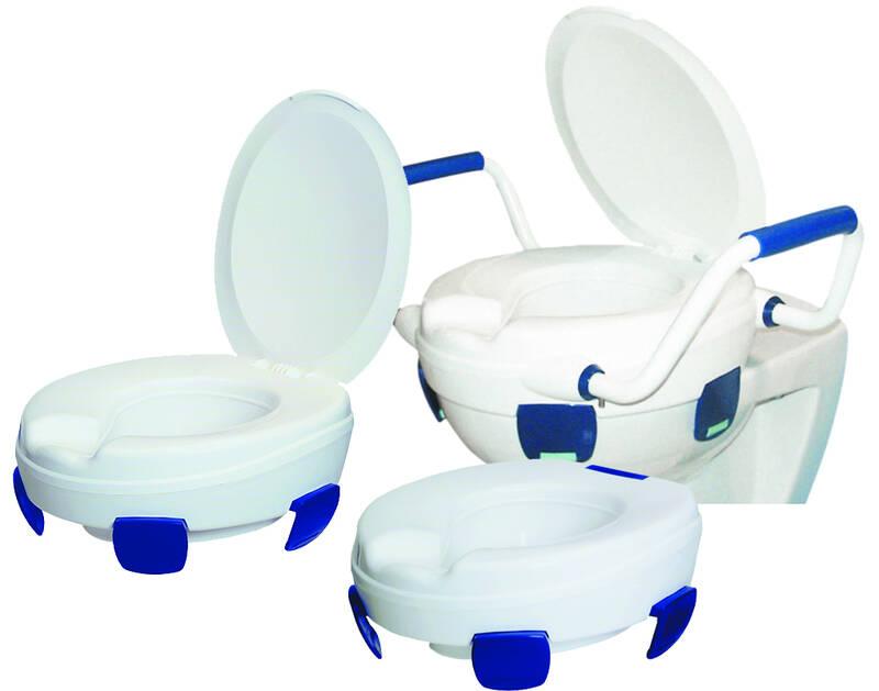 Sitzerhöhung für WC Standard, hohe Tragkraft 185 kg, mit Hygieneausschnitt 96100