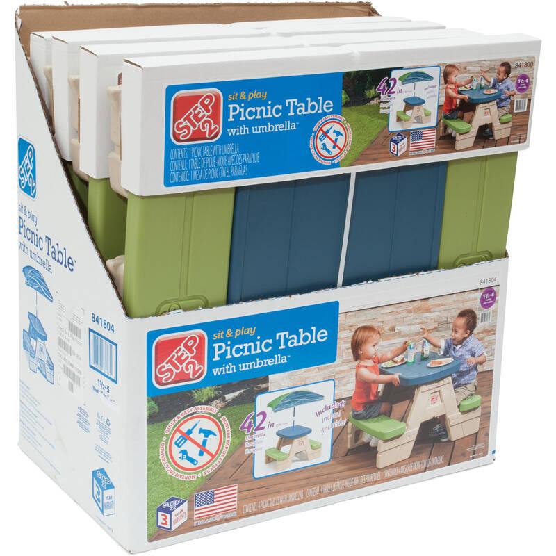 opvouwbare kinder picknicktafels Sit & Play (4-stuks)
