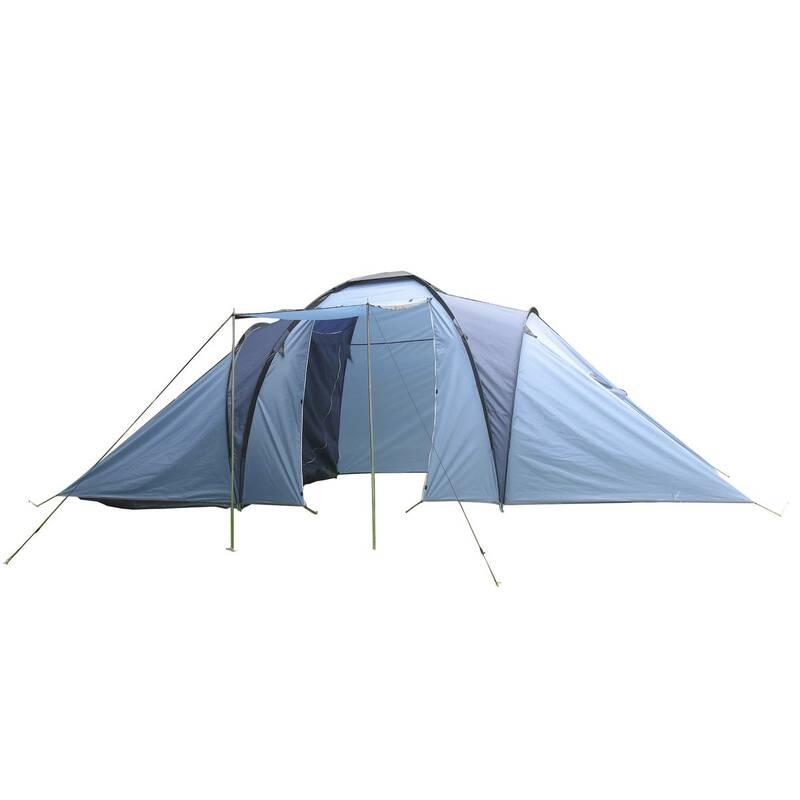 Campingtent Tangra voor 6 personen blauw